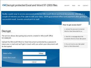 AccessBack - сервис дешифровки документов Excel и Word 97-2003